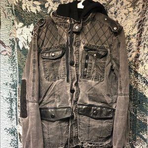 Rock Republic Fur Lined Jacket Coat With Hood